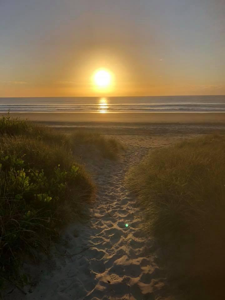 early morning beach STAR
