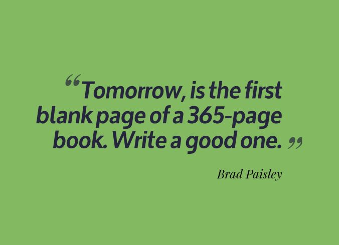 new year blank page