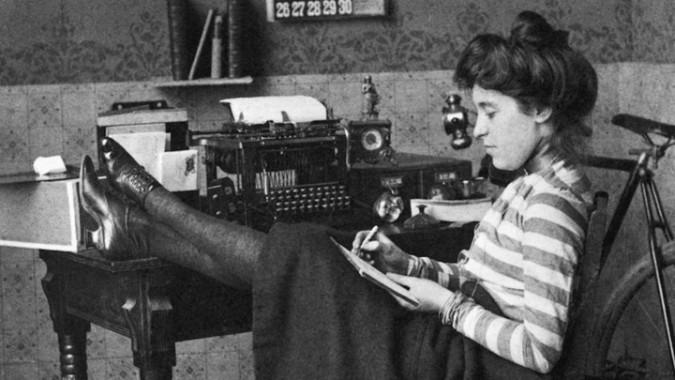 writing woman